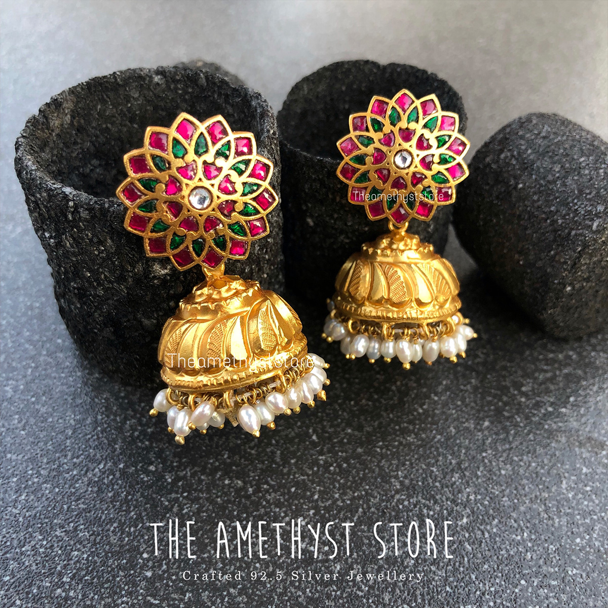 gold-plated-antique-silver-jhumka-designs (12)