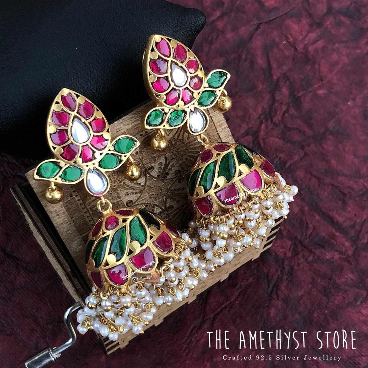 gold-plated-antique-silver-jhumka-designs (15)