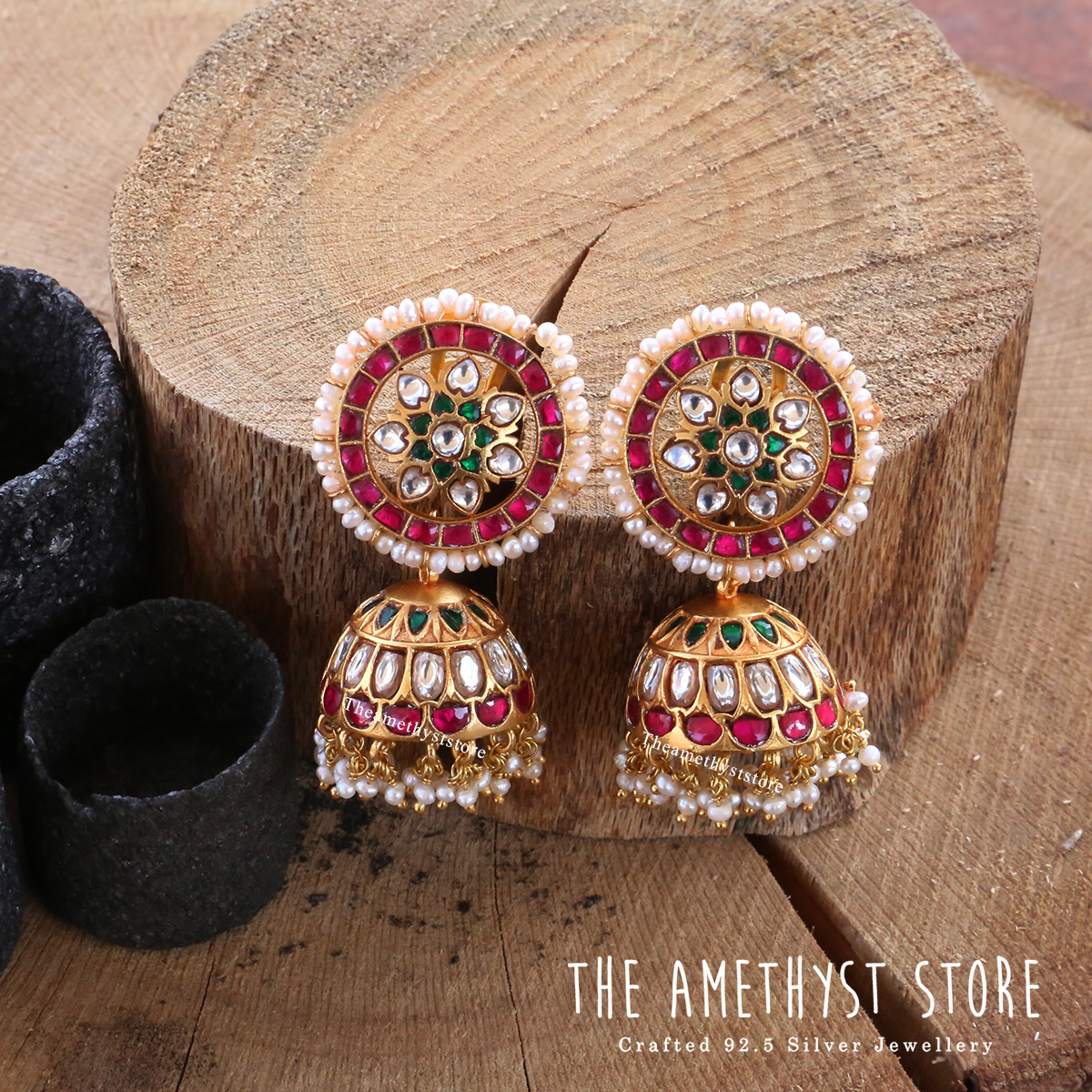 gold-plated-antique-silver-jhumka-designs (5)