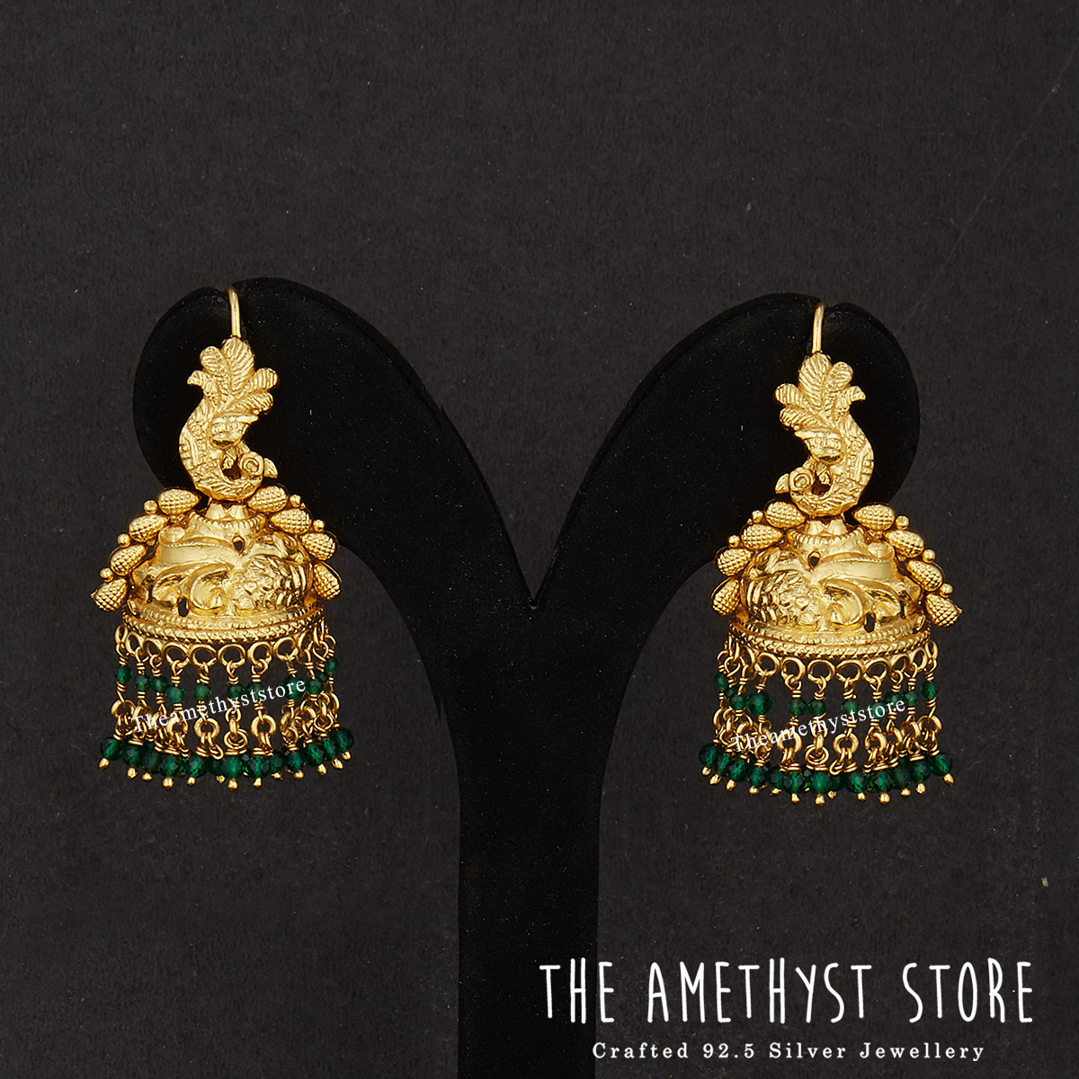 gold-plated-antique-silver-jhumka-designs (7)