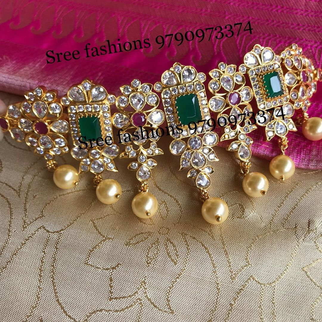 gold-plated-silver-antique-jewellery-designs-2019 (11)