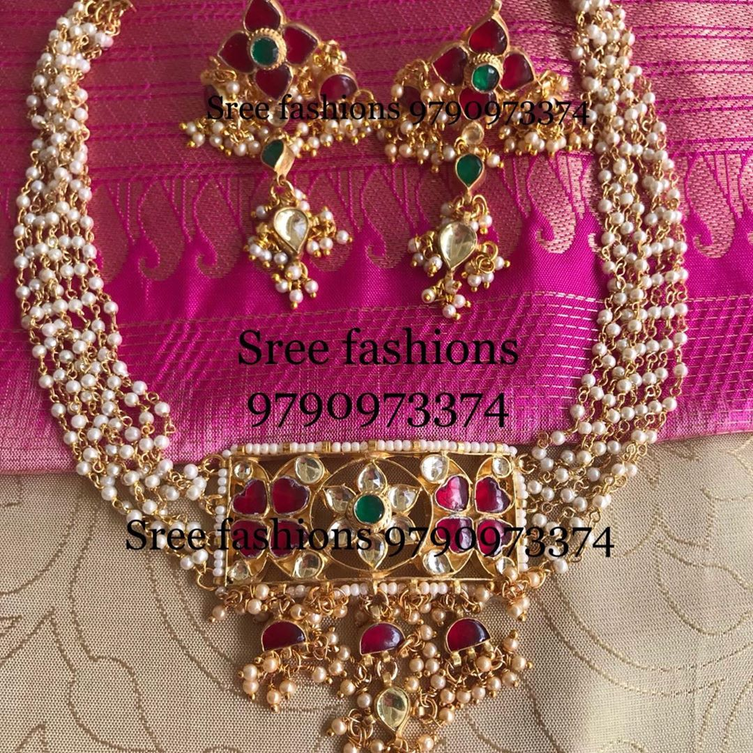 gold-plated-silver-antique-jewellery-designs-2019 (13)