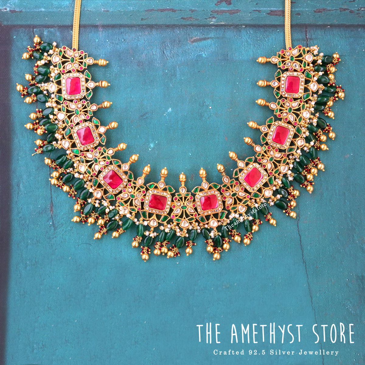 gold-plated-silver-antique-jewellery-designs-2019 (3)