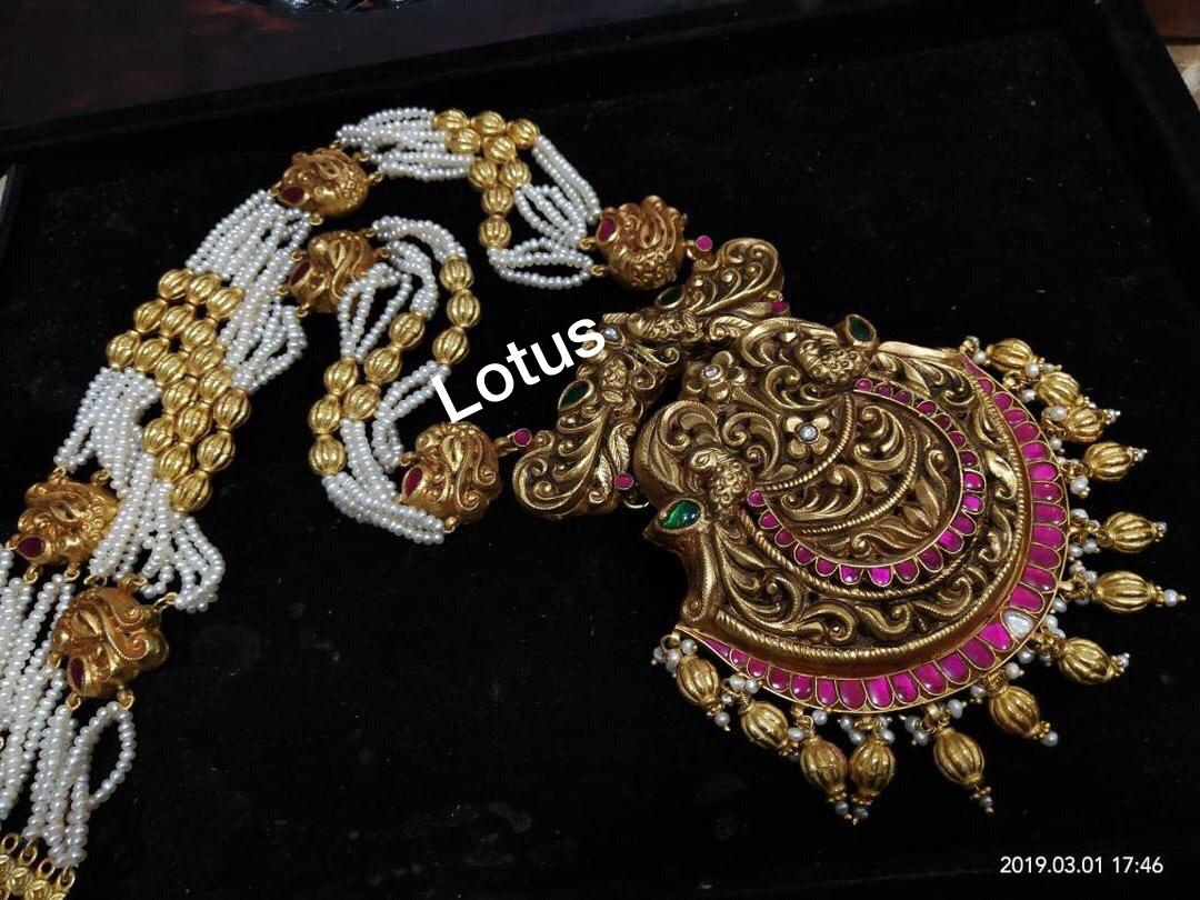 gold-plated-silver-antique-jewellery-designs-2019 (7)