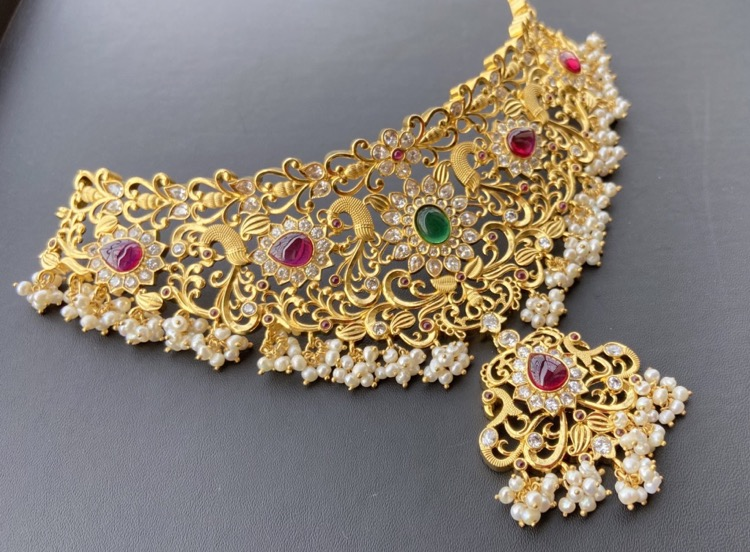 gold-plated-silver-bridal-choker (2)