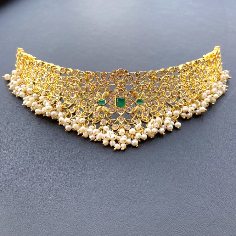 gold-plated-silver-bridal-choker (3)