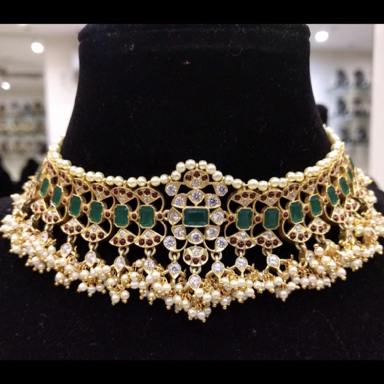 gold-plated-silver-bridal-choker (6)