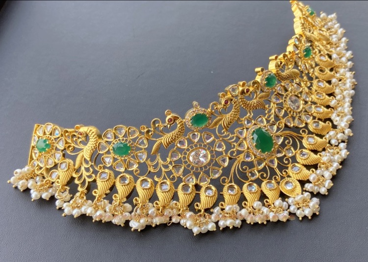 gold-plated-silver-bridal-choker (8)