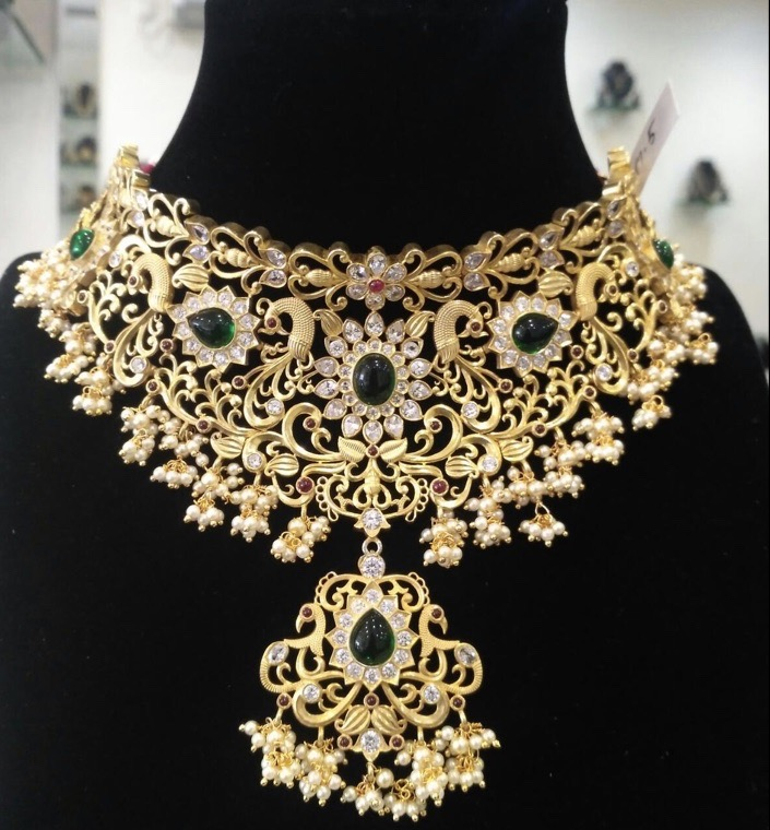 gold-plated-silver-bridal-choker