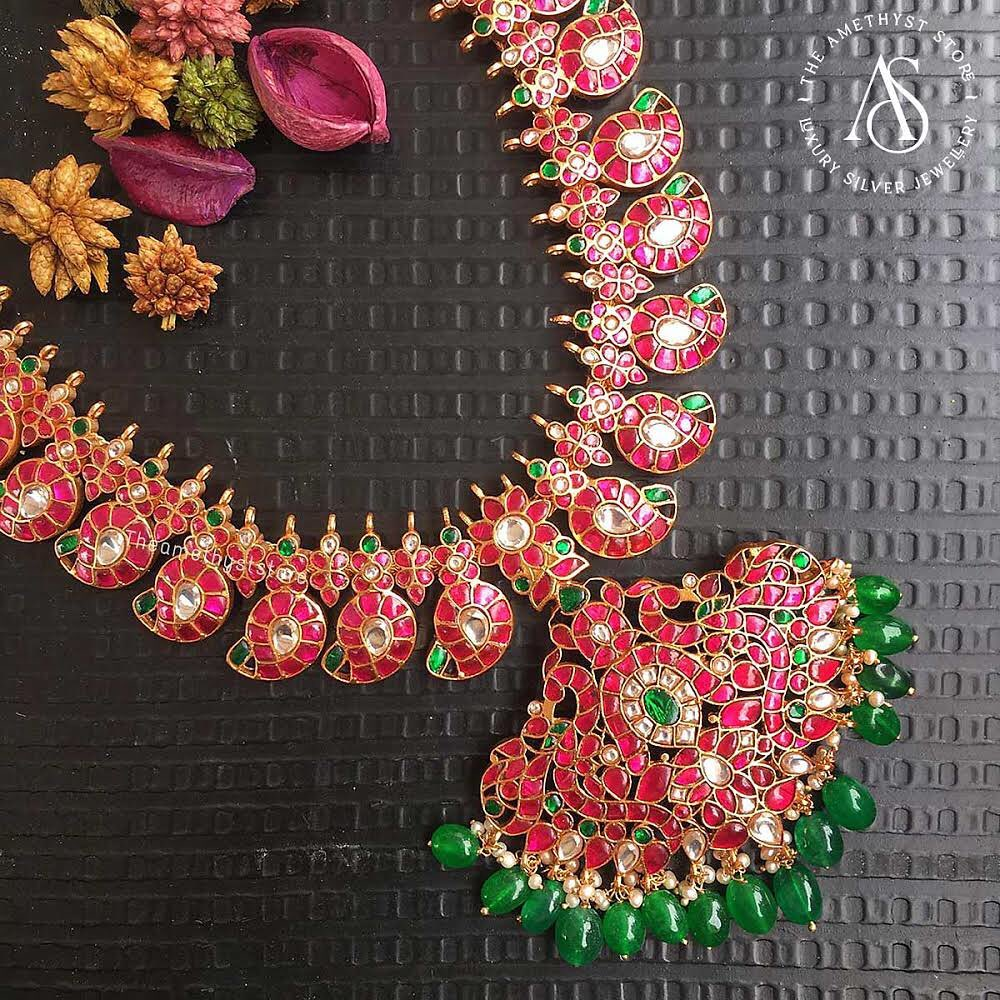 south-indian-antique-ruby-necklace-designs-1