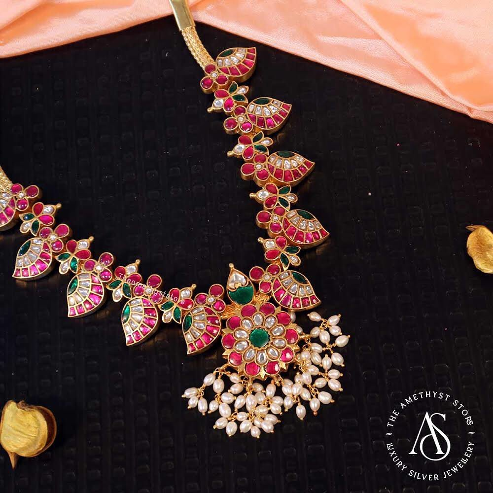 south-indian-antique-ruby-necklace-designs-11