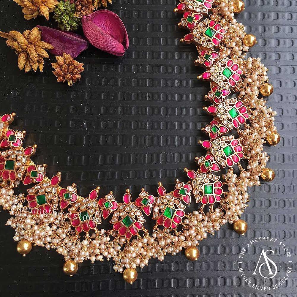south-indian-antique-ruby-necklace-designs-2