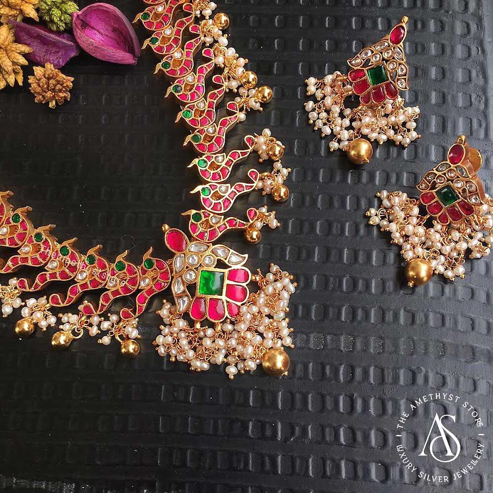 south-indian-antique-ruby-necklace-designs-3
