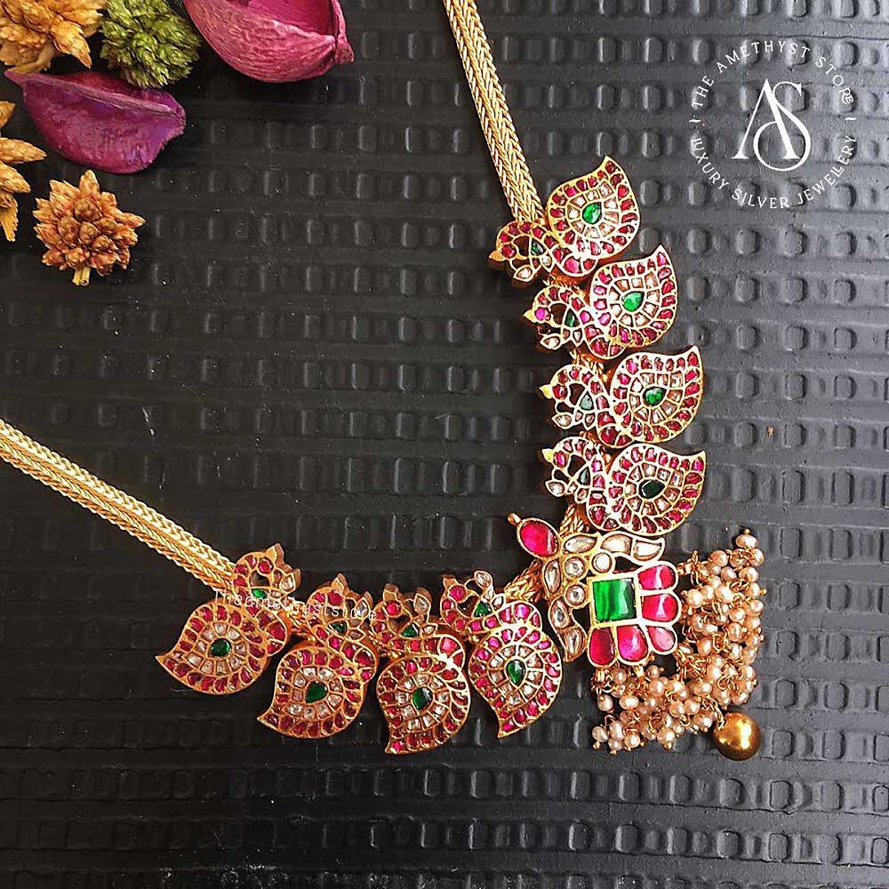 south-indian-antique-ruby-necklace-designs-4