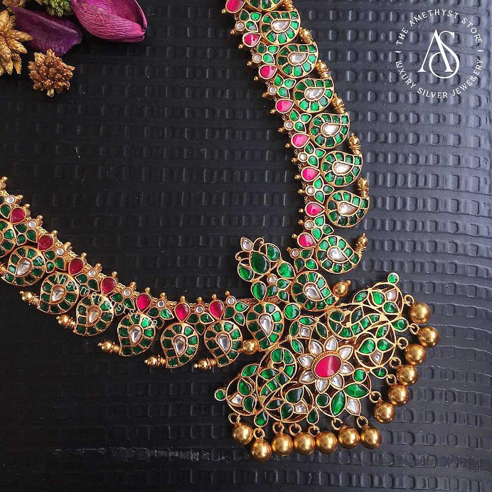south-indian-antique-ruby-necklace-designs-5