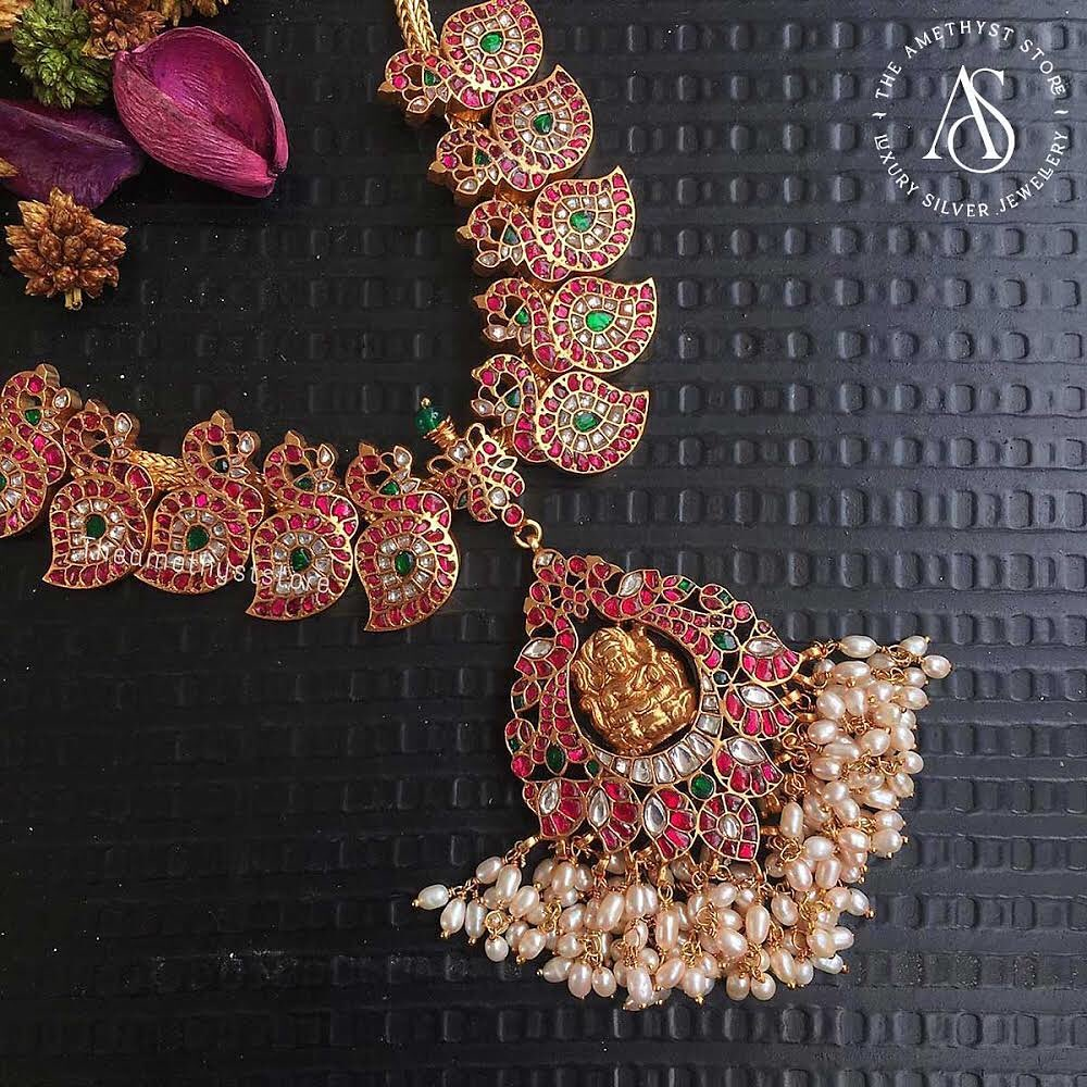south-indian-antique-ruby-necklace-designs-6