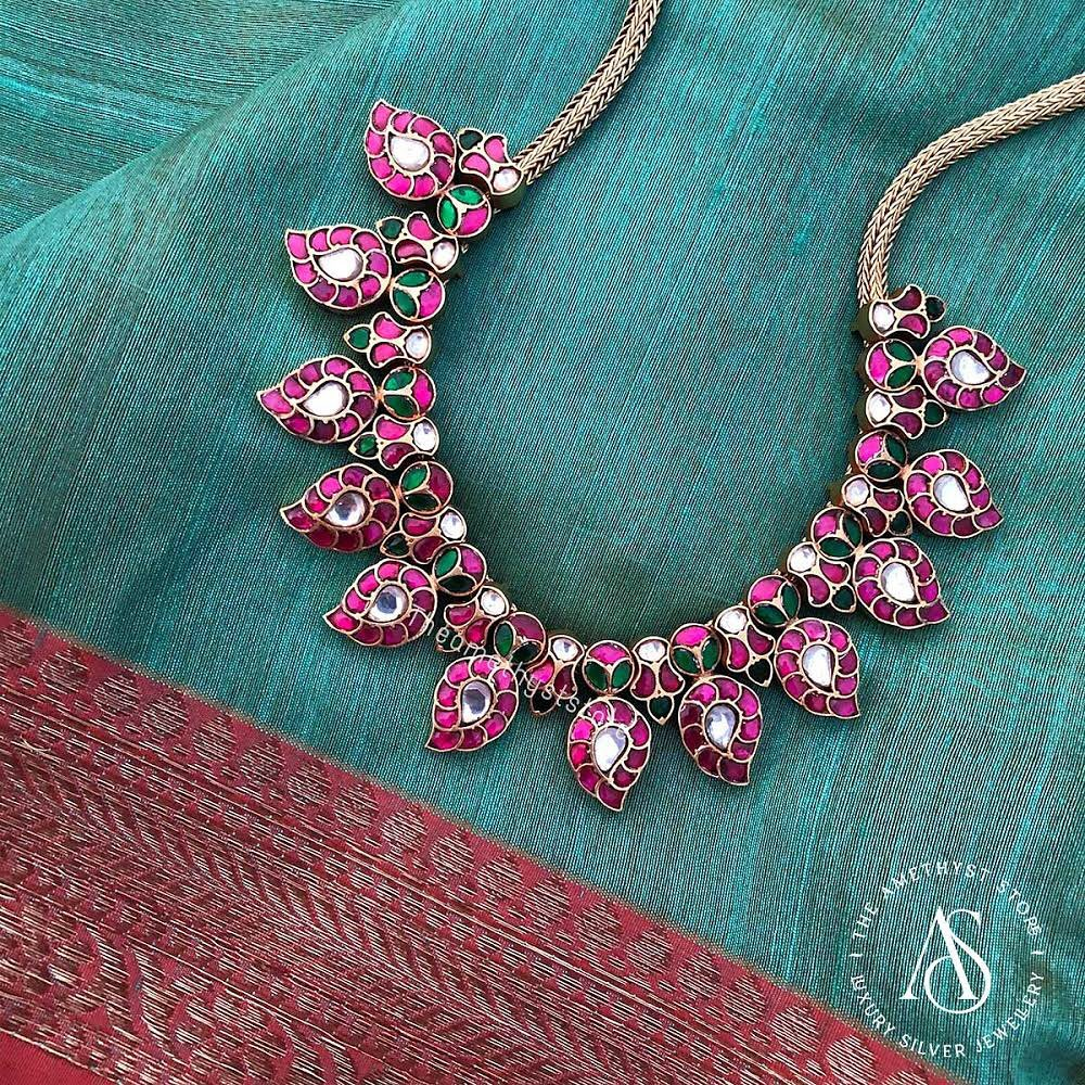 south-indian-antique-ruby-necklace-designs-7