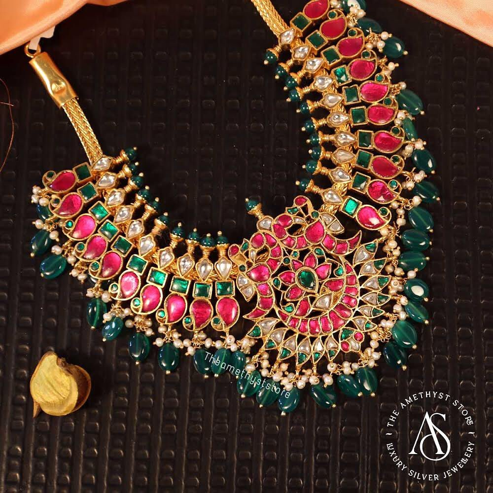 south-indian-antique-ruby-necklace-designs-9