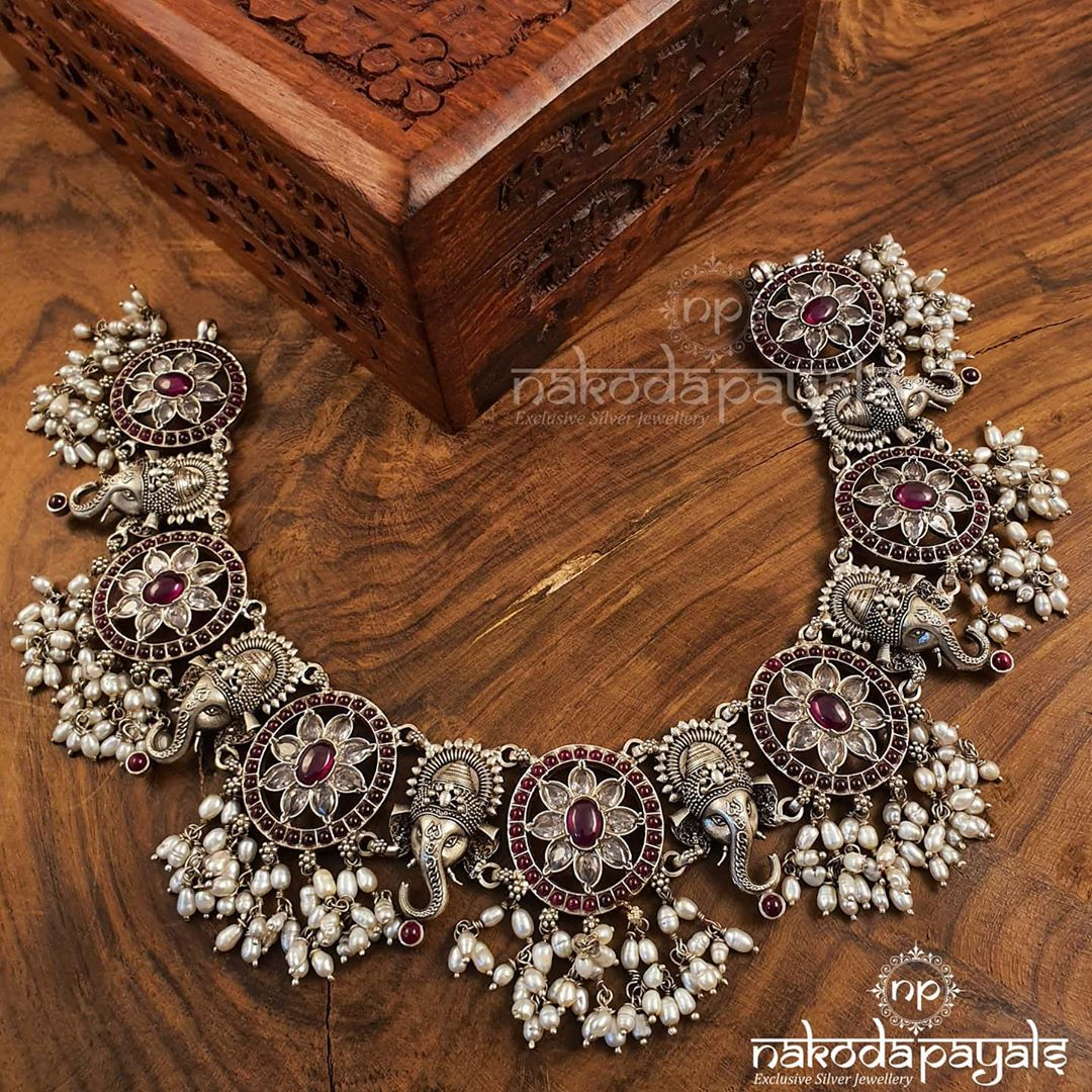 silver-choker-necklace-designs-8