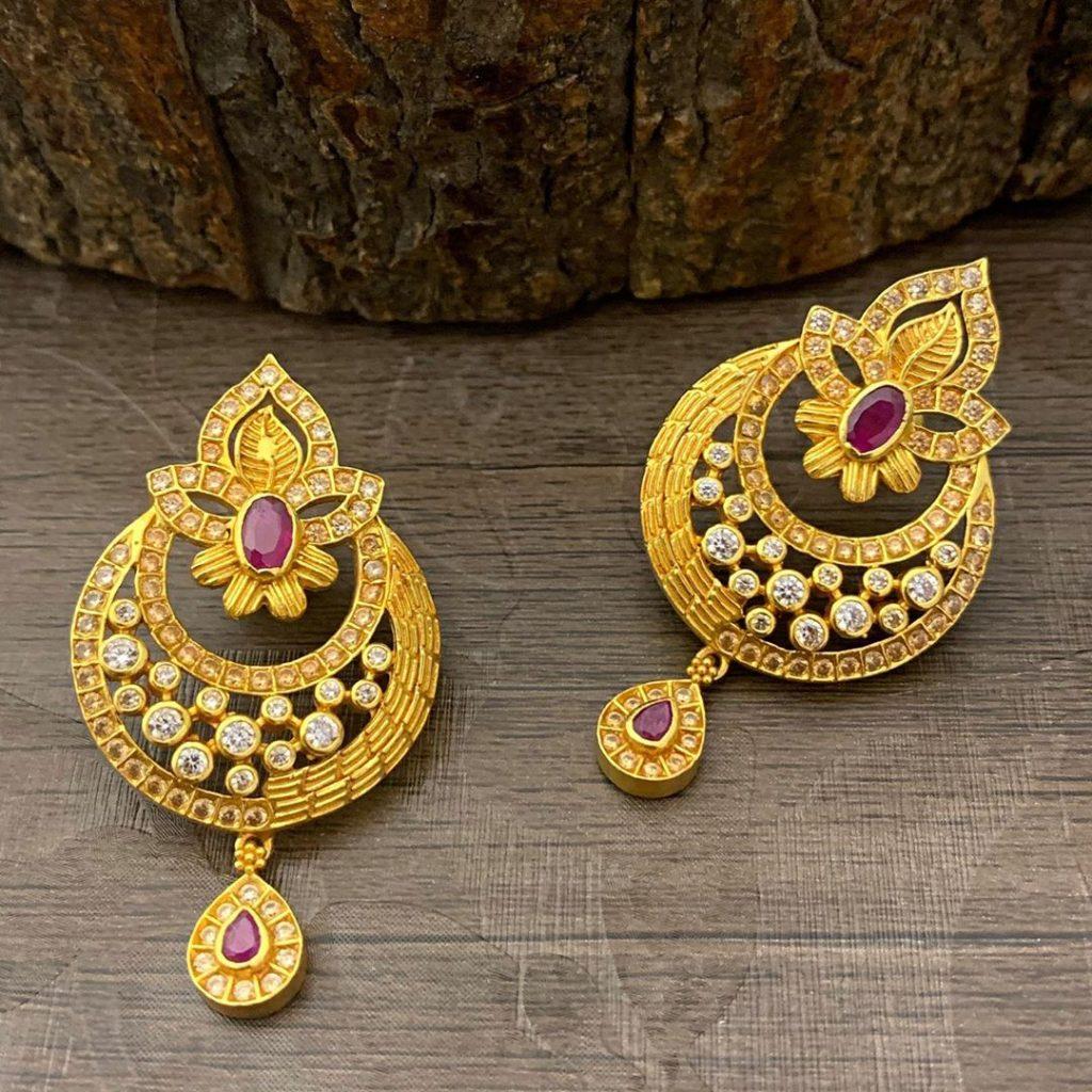 antique earrings designs-10