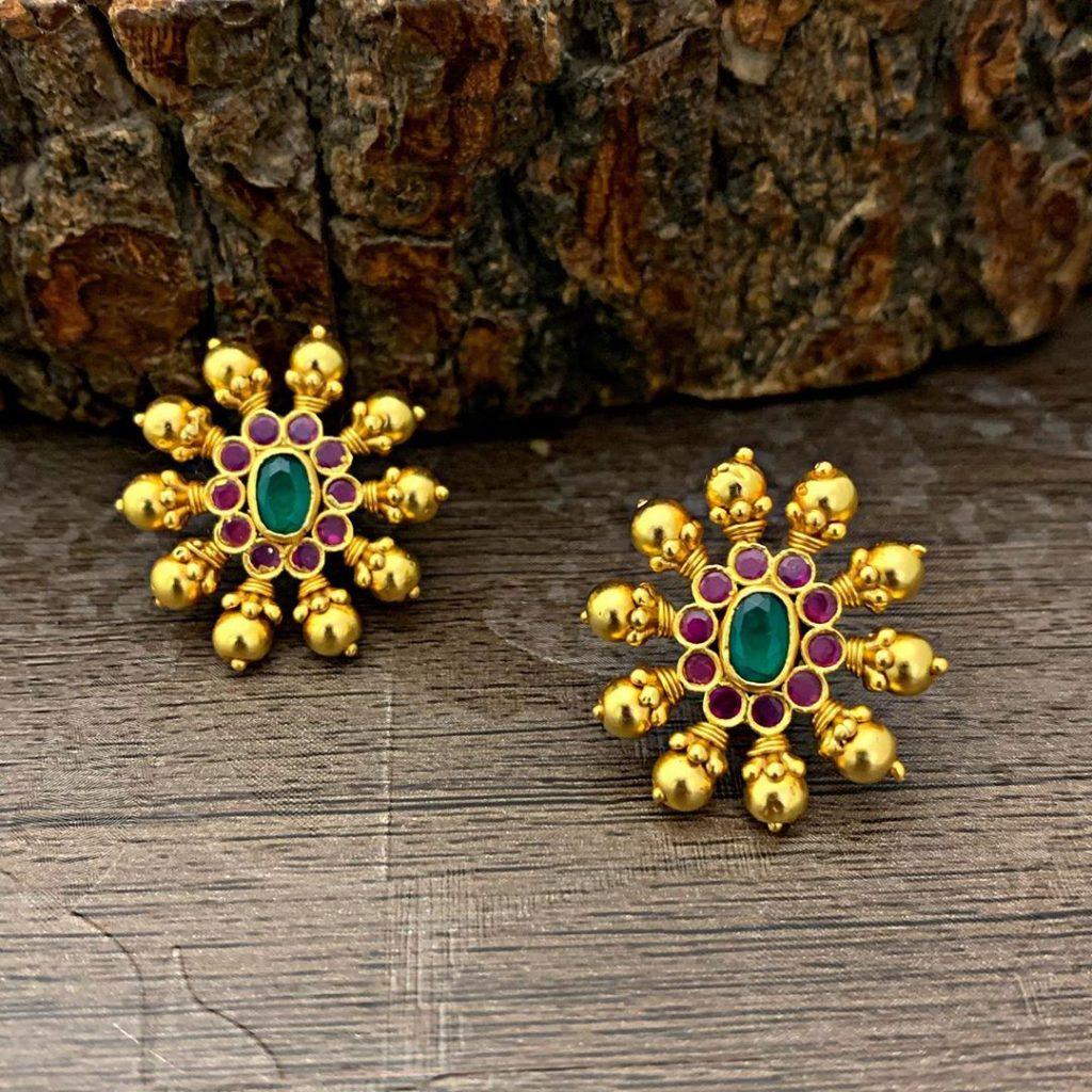 antique earrings designs-11