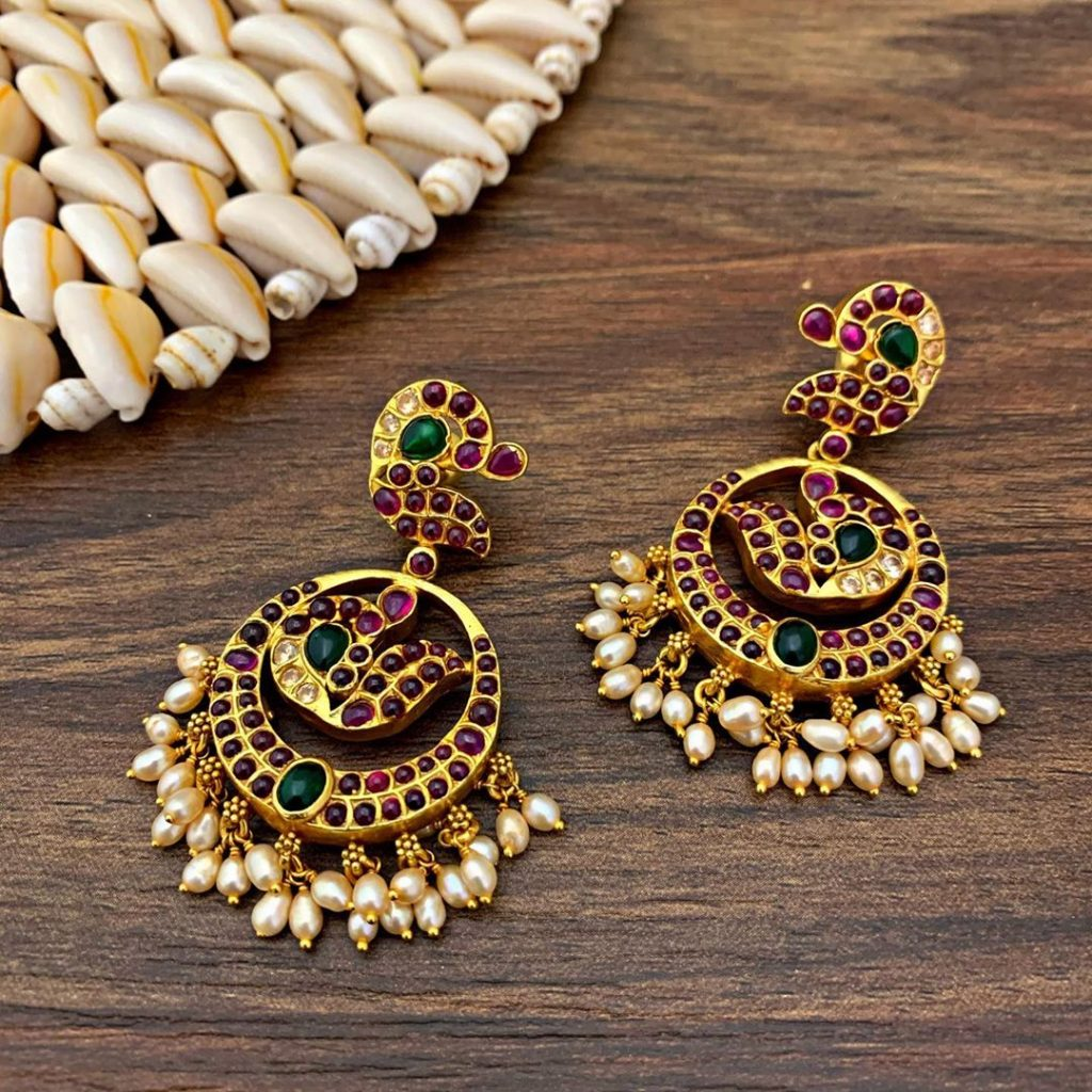 antique earrings designs-12