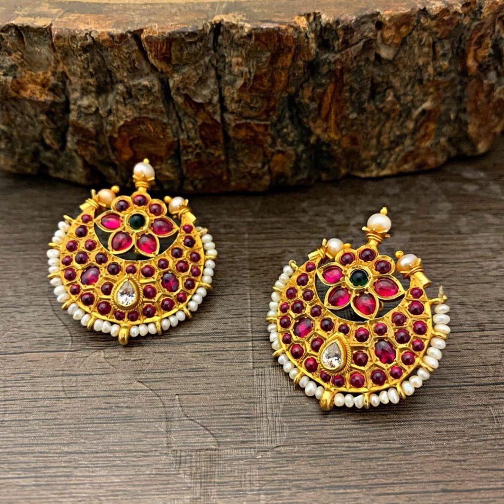 antique earrings designs-14