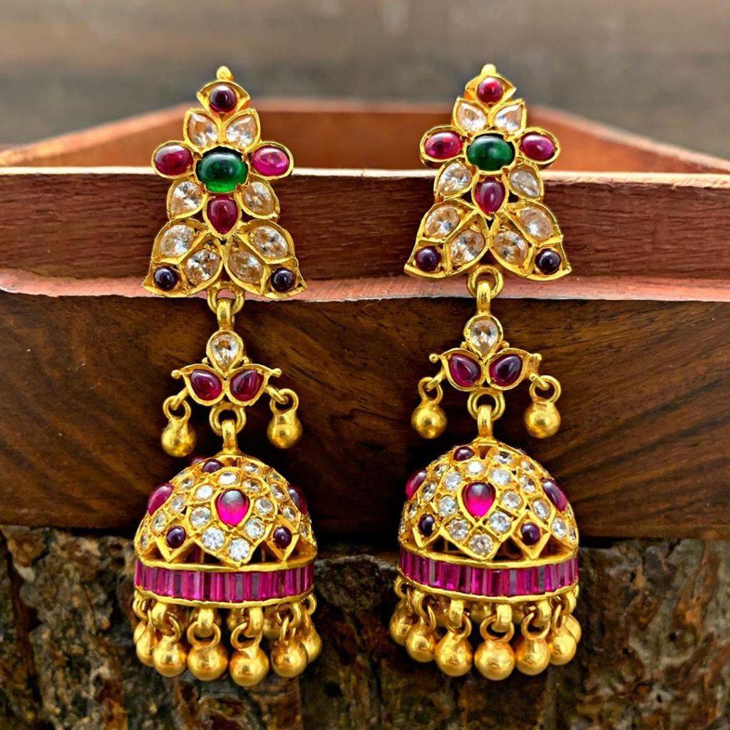 antique earrings designs-16