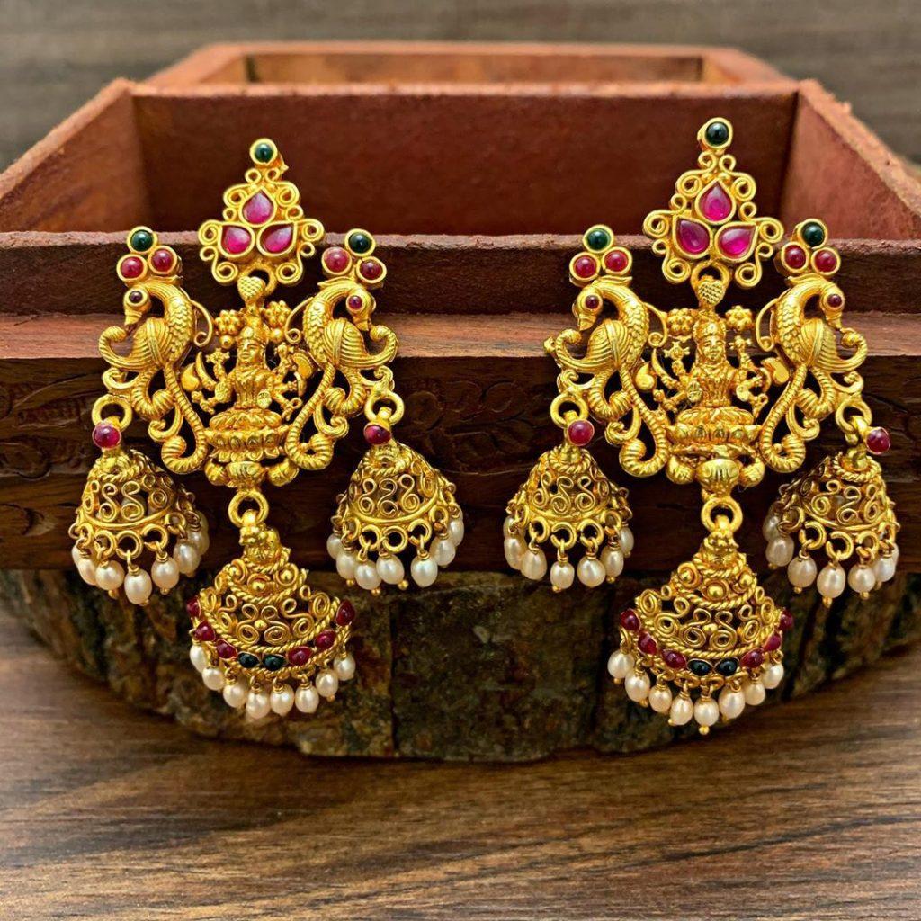 antique earrings designs-8