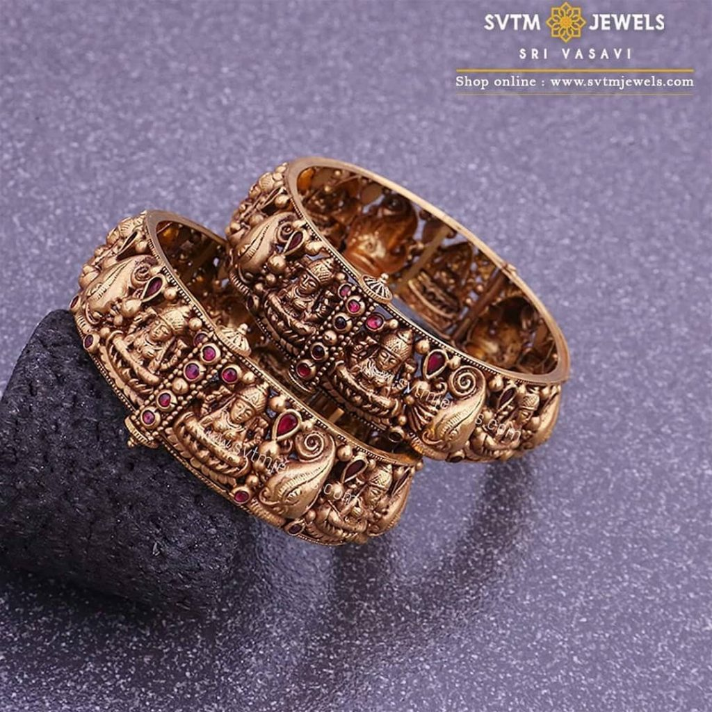 gold-antique-bangles-designs-10