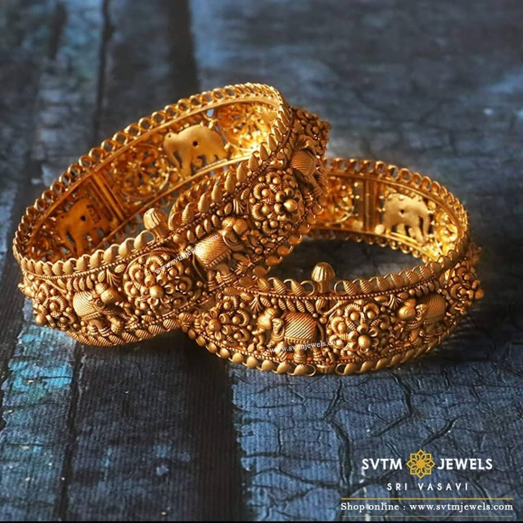 gold-antique-bangles-designs