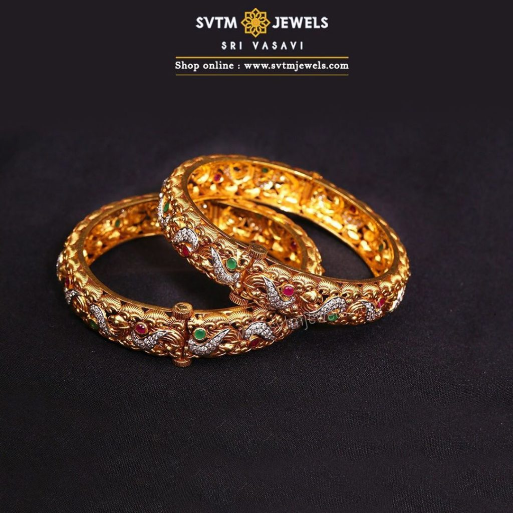 gold-antique-bangles-designs-15