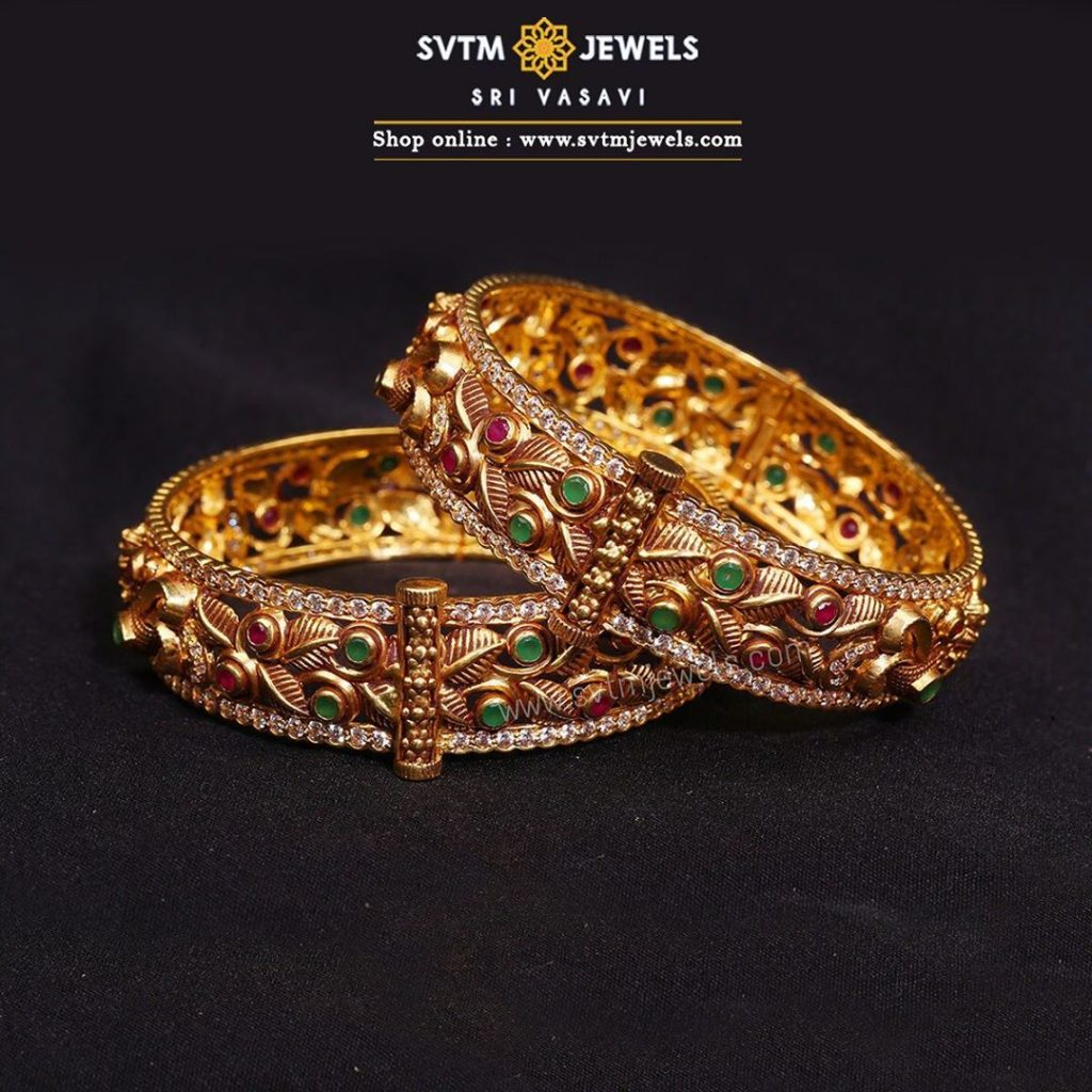 gold-antique-bangles-designs-16