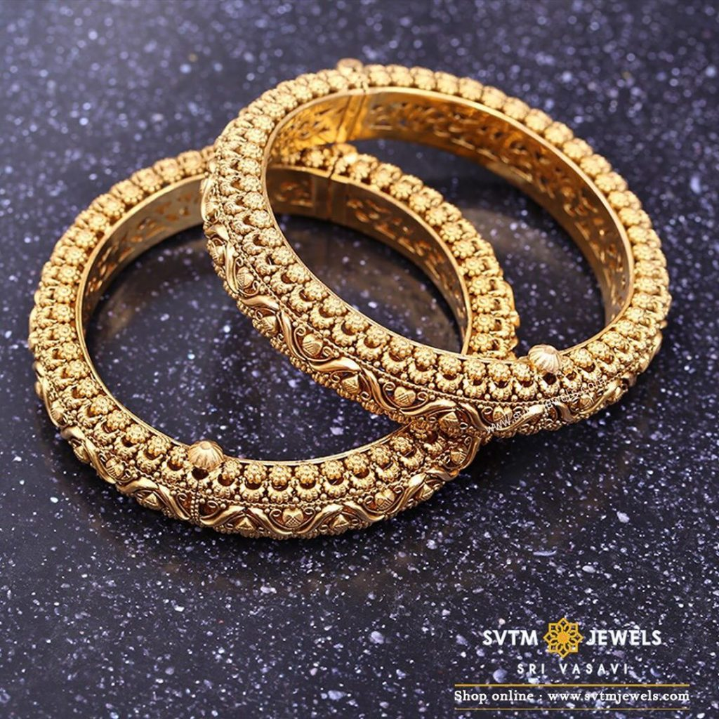 gold-antique-bangles-designs-9