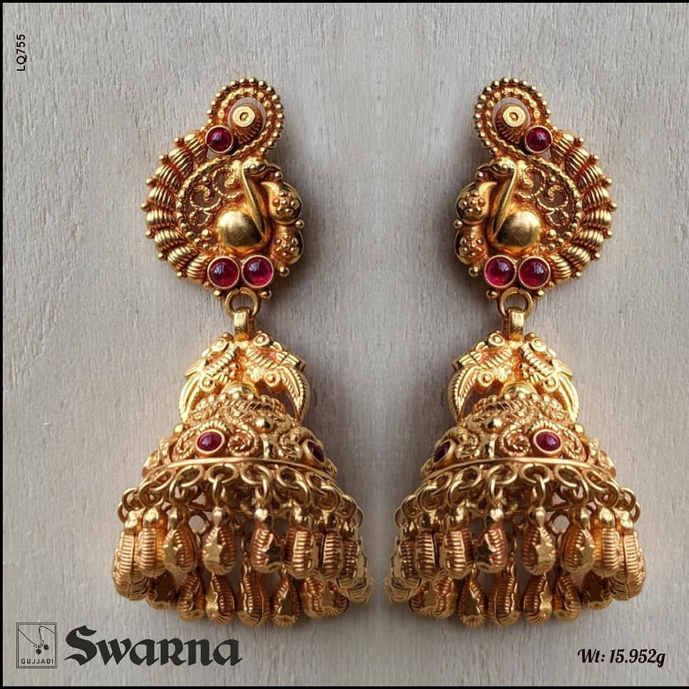 antique-gold-jhumka-designs
