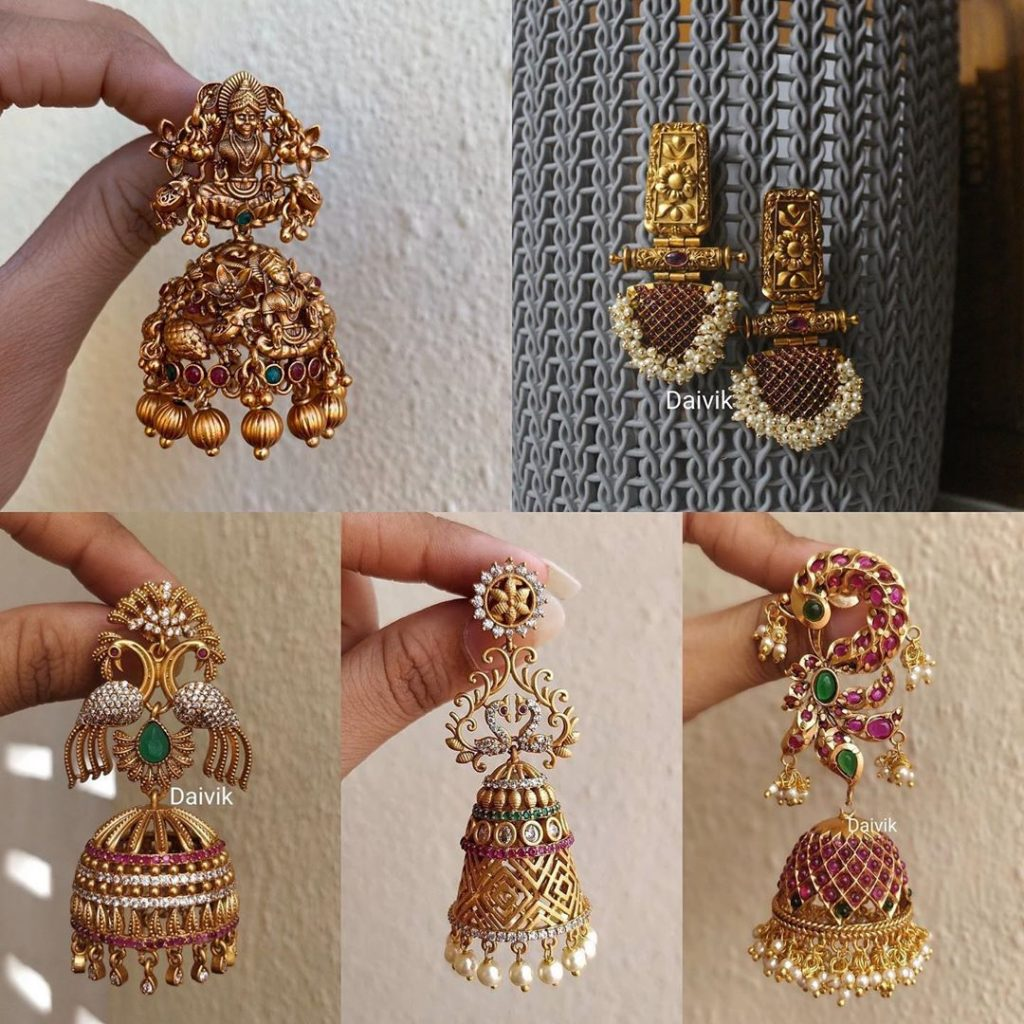 antique-jhumkas-imitation-online