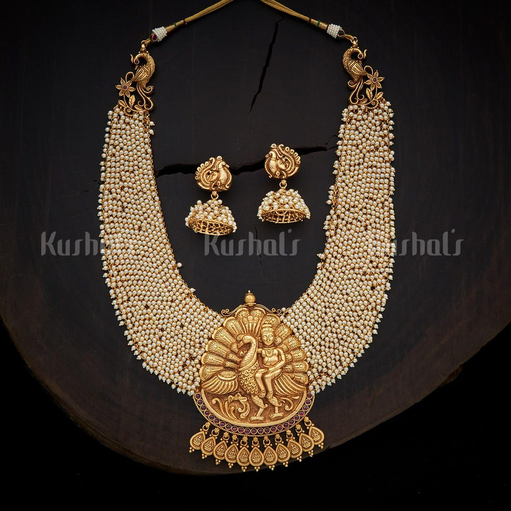 antique-necklace-set-for-saree-18