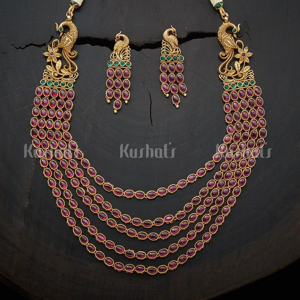antique-necklace-set-for-saree-1