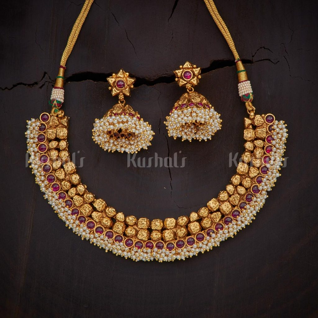antique-necklace-set-for-saree-2