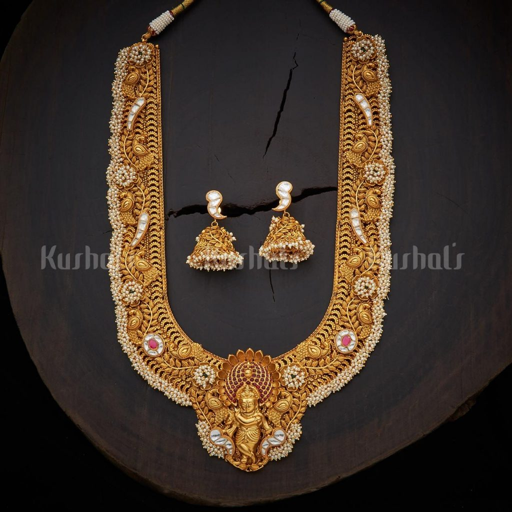 antique-necklace-set-for-saree-7