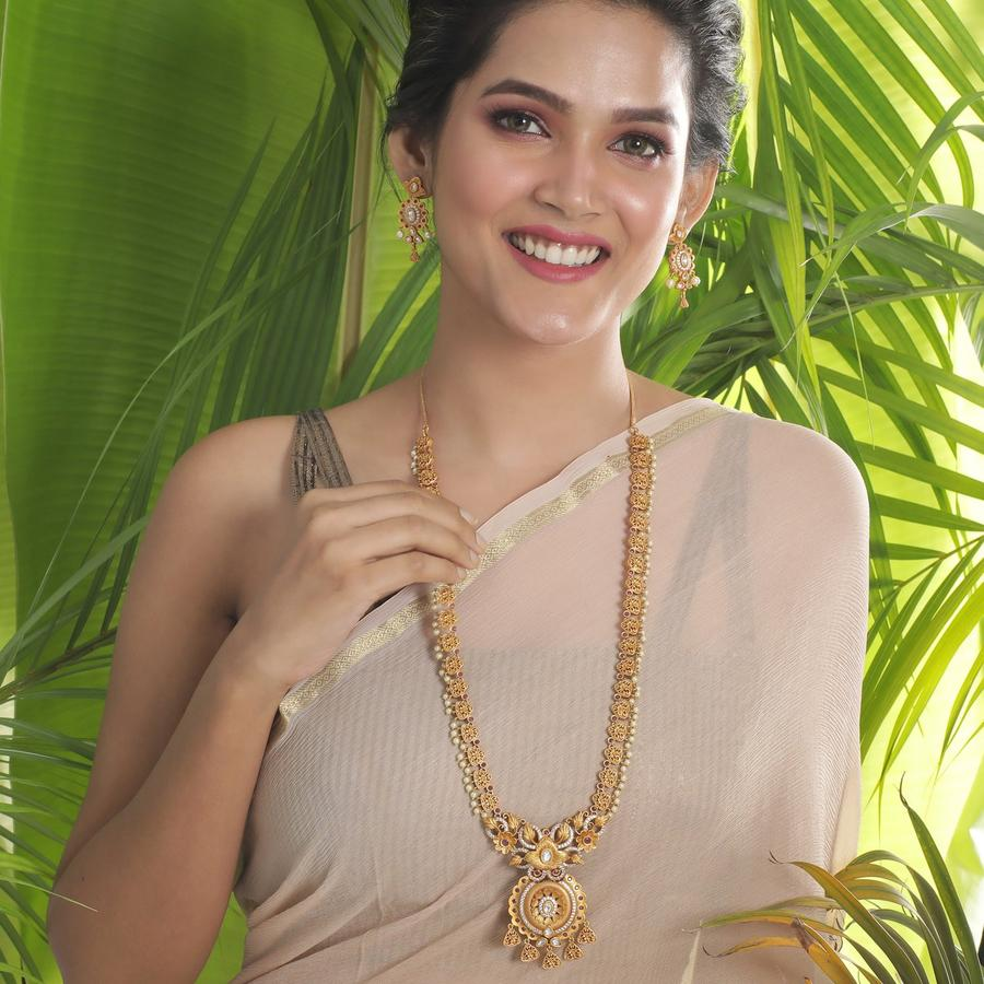 long-necklace-for-saree-4