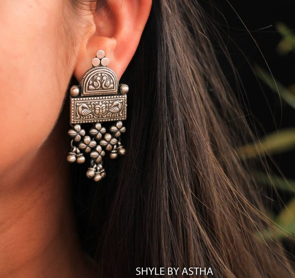 silver-earrings-boho