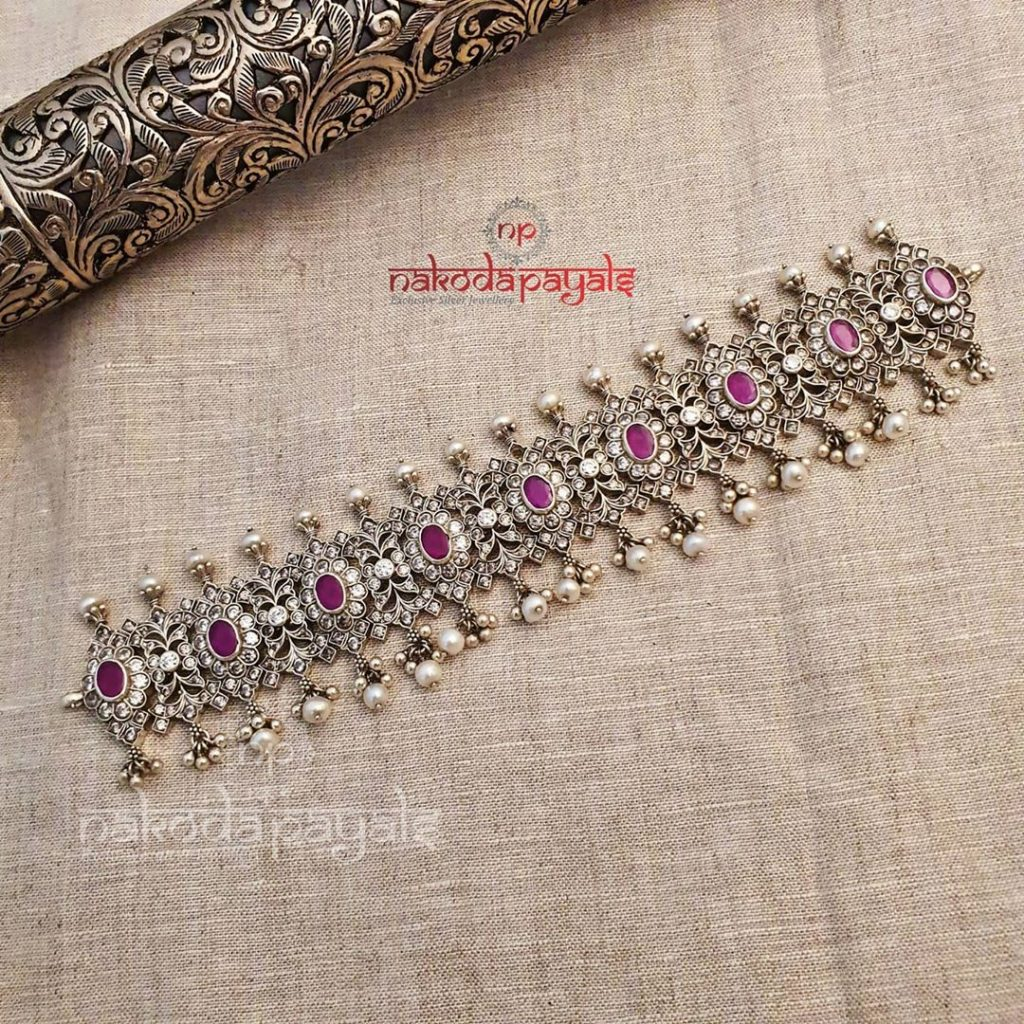 silver-necklace-for-saree-3