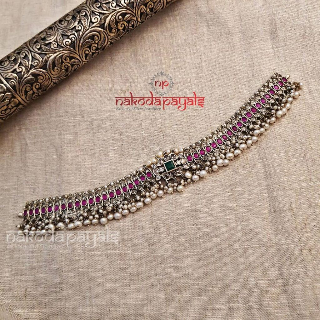 silver-necklace-for-saree-6