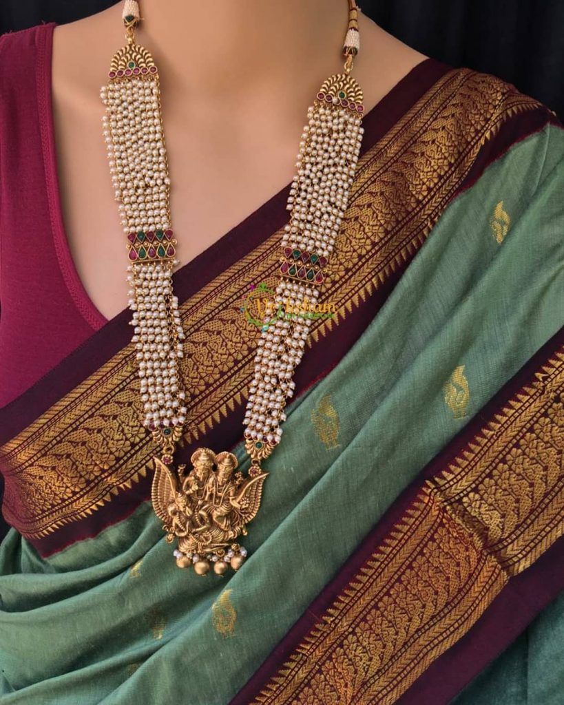traditional-necklace-for-saree-7