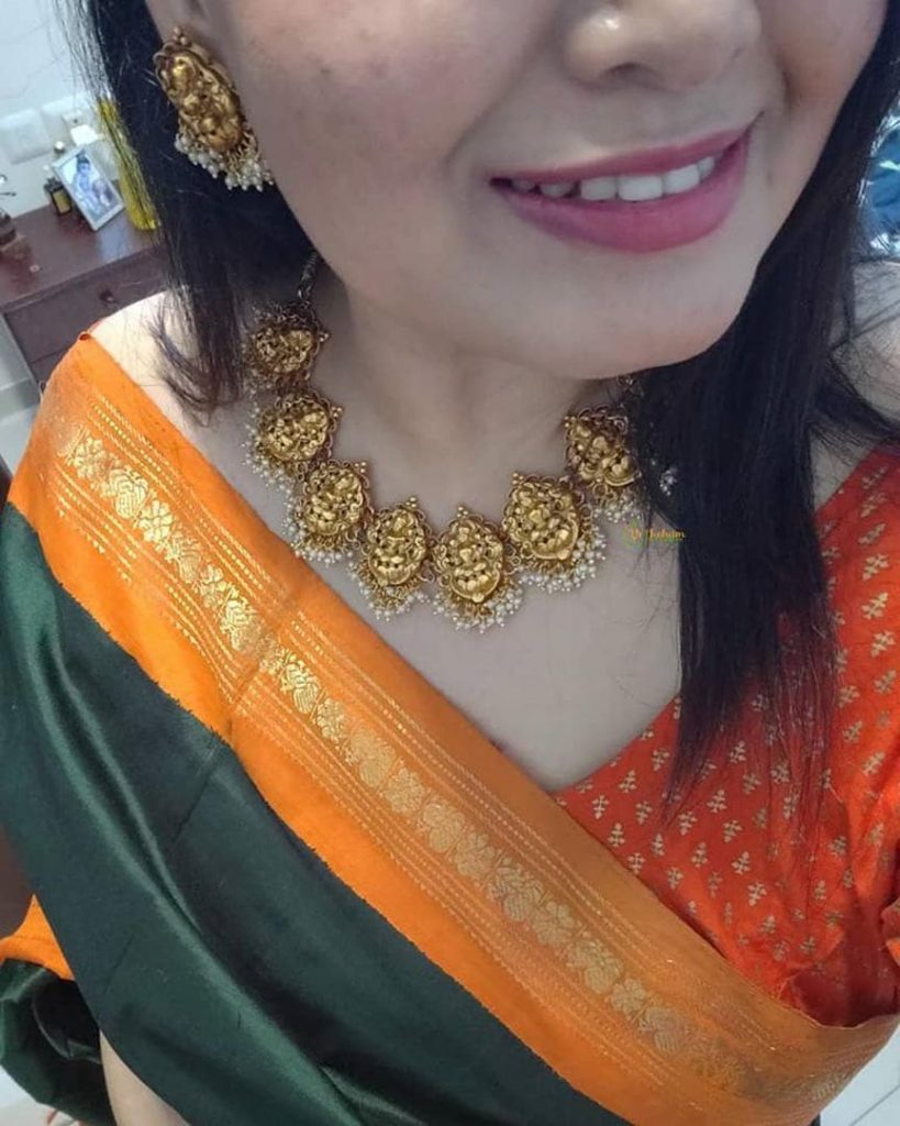 traditional-necklace-for-saree