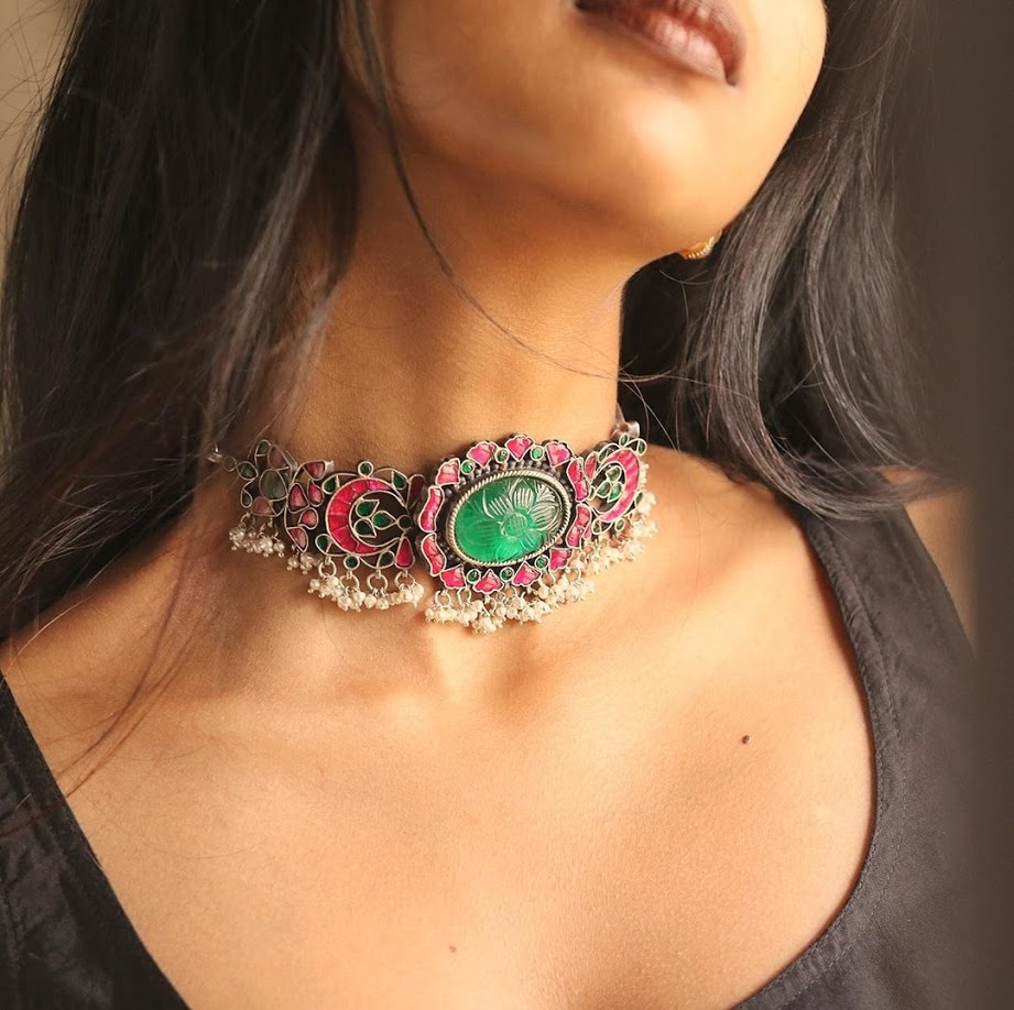 choker-necklace-for-saree-online-3