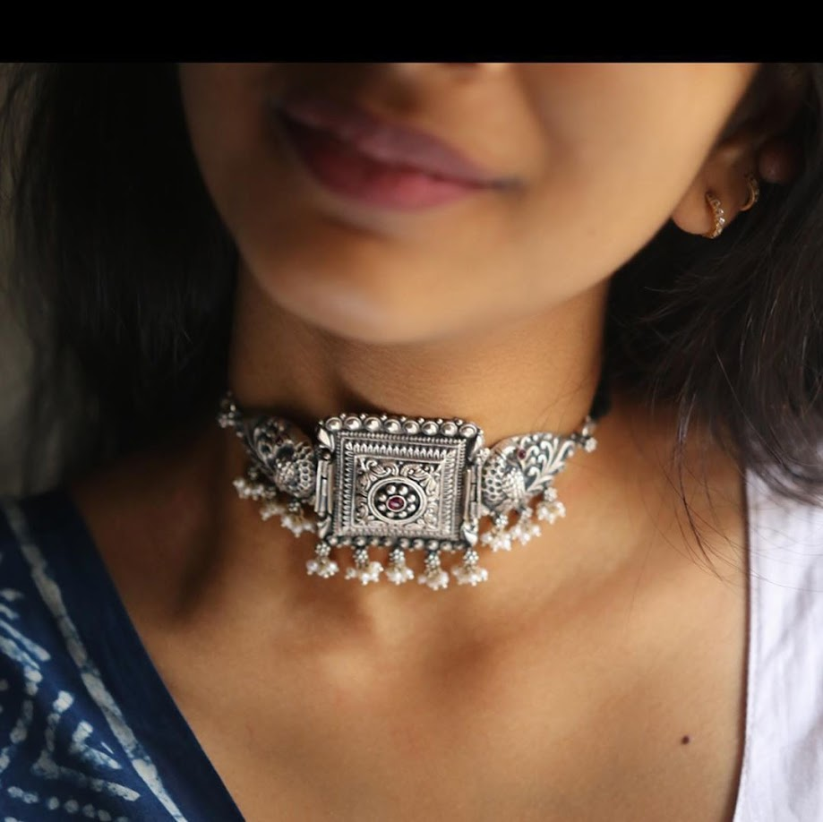 choker-necklace-for-saree-online-7