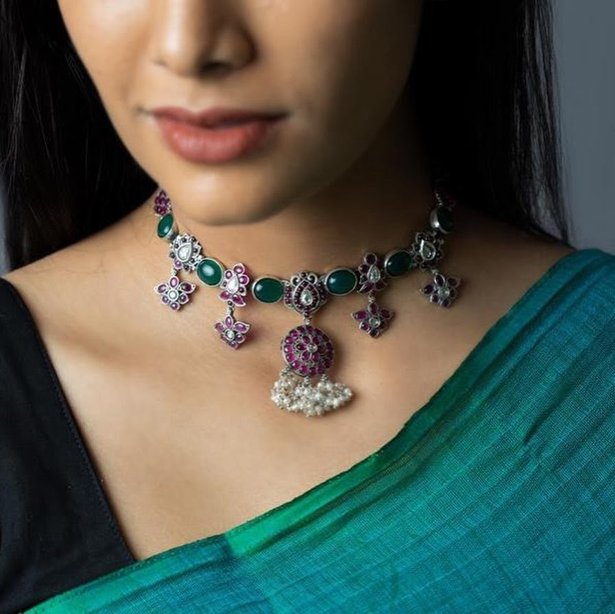 choker-necklace-for-saree-online-8