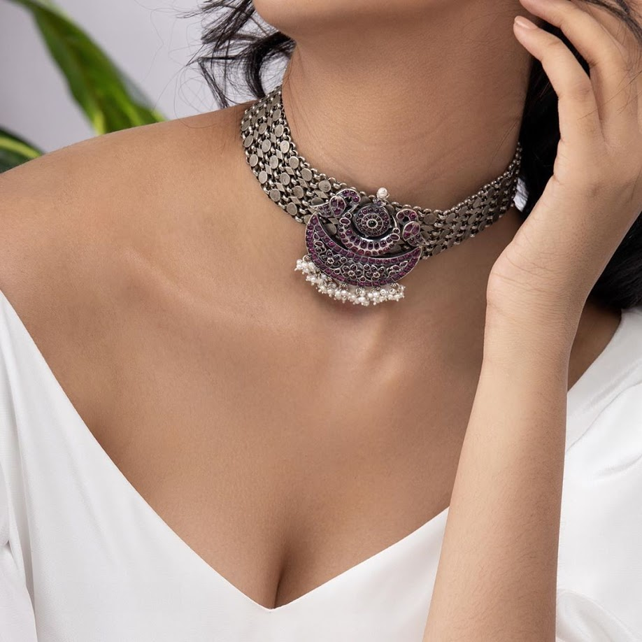 choker-necklace-for-saree-online-9